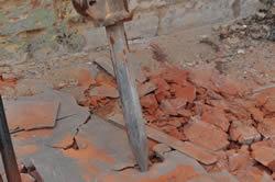 La punta del martello pneumatico