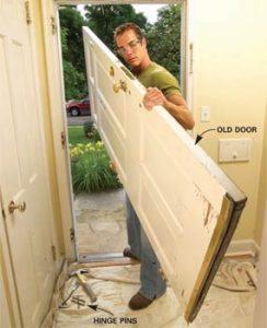 Rimuovere la vecchia porta